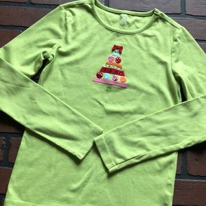 Justice girls long sleeve shirt Christmas 12